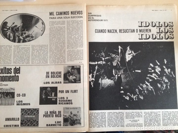 Revistas de música: LED ZEPPELIN - JAMES TAYLOR - POP TOPS - CREAM - J.M. SERRAT - JIMMY CLIFF - Disco Expres num. 155 - Foto 10 - 205569512