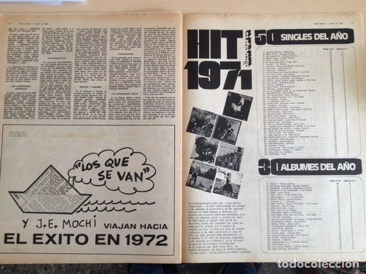 Revistas de música: LED ZEPPELIN - JAMES TAYLOR - POP TOPS - CREAM - J.M. SERRAT - JIMMY CLIFF - Disco Expres num. 155 - Foto 11 - 205569512