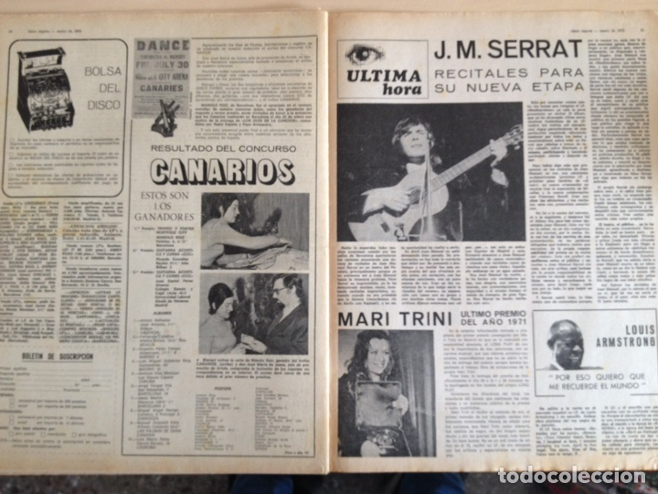 Revistas de música: LED ZEPPELIN - JAMES TAYLOR - POP TOPS - CREAM - J.M. SERRAT - JIMMY CLIFF - Disco Expres num. 155 - Foto 12 - 205569512