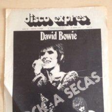 Revistas de música: DAVID BOWIE - PORTADA DISCO EXPRES NUM. 221. Lote 205576103