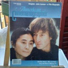Revistas de música: JOHN LENNON -THE BEATLES-PORTADA DEL AMERICAN CINEMATOGRAFHER -1988. Lote 205706382