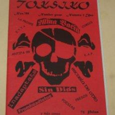 Magazines de musique: TOKSIKO #1 - SIN DIOS - INADAPTATS - ESCUELA DE ODIO - FROMHEADTOTOE - ..... Lote 205896296