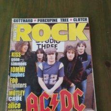 Revistas de música: THIS IS ROCK Nº 13 JULIO 2005 AC/DC,KISS,ALICE COOPER GROUP,IOMMI-HUGHES. Lote 206273062