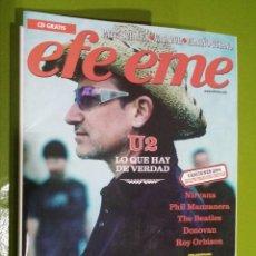 Revistas de música: REVISTA EFE EME Nº 64 U2. Lote 206277625