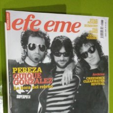 Revistas de música: REVISTA EFE EME Nº 77 PEREZA QUIQUE GONZALEZ. Lote 206280793