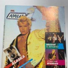 Revistas de música: REVISTA POPULAR 1 Nº 163 ALASKA BILLY IDOL POSTER IRON MAIDEN. Lote 206812807