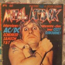 Revistas de música: METAL ATTACK:N.4-OZZY OSBOURNE-AC/DC-M.SCHENKER-SAMSON-IRON MAIDEN-LED ZEPPELIN. Lote 207133988