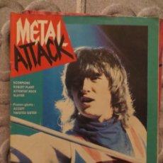 Revistas de música: METAL ATTACK:N.22-DEF LEPPARD-SCORPIONS-SLAYER-CHARIOT-ROBERT PLANT-BON JOVI. Lote 207134045