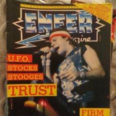 Riviste di musica: ENFER MAGAZINE:N.21-TRUST-METALLICA-FIRM-UFO-STOOGES-EXODUS-SLAYER. Lote 207134493