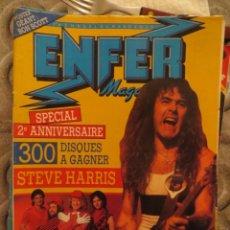 Revistas de música: ENFER MAGAZINE:N.24-IRON MAIDEN-SLADE-DEEP PURPLE-SLADE-VENOM-RAMONES-ACCEPT. Lote 207134546
