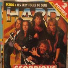 Revistas de música: HARD ROCK:N.52-SCORPIONS-MOTORHEAD-KISS-DEEP PURPLE-JOE SATRIANI..+ POSTERS. Lote 207134848