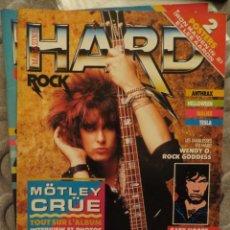 Revistas de música: HARD ROCK:N.32-MOTLEY CRUE-WENDY O WILLIAMS-ANTHRAX-HELLOWEEN-GARY MOORE-EUROPE. Lote 207134931