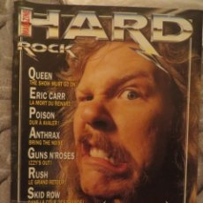 Revistas de música: HARD ROCK:N.-86-METALLICA-QUEEN-ERIC CARR-RUSH-MEGADETH-PEARL JAM-SKID ROW + POSTERS!!!. Lote 207135423