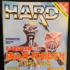 Revistas de música: HARD ROCK:N.44-IRON MAIDEN-ALICE COOPER-CELTIC FROST-QUEENSRYCHE-KING DIAMOND+POSTERS!!!!. Lote 207135497