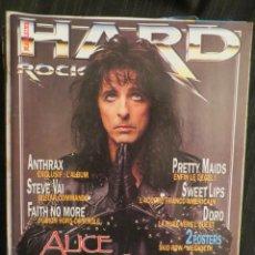 Revistas de música: HARD ROCK:-ALICE COOPER-DORO PESCH-DEATH-BRUCE DICKINSON-STEVE VAI-ROBERT PLANT. Lote 207135587