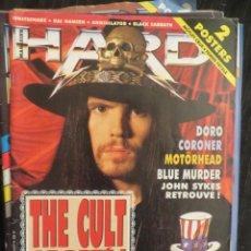 Revistas de música: HARD ROCK:-THE CULT-BLACK SABBATH-DORO PESCH-MOTORHEAD-CORONER-HELLOWEEN. Lote 207135926