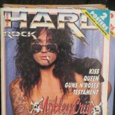 Revistas de música: HARD ROCK:N.62-MOTLEY CRUE-KISS-QUEEN-TESTAMENT-GUNS N ROSES-RAMONES. Lote 207627043
