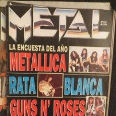 Revistas de música: METAL: NUM.132 -IRON MAIDEN-ALICE COOPER-DEEP PURPLE-MOTLEY CRUE..POSTER:RIFF !!!!. Lote 207629736
