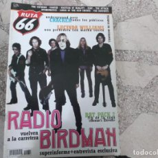 Revistas de música: RUTA 66 Nº 182, RADIO BIRDMAH, LUCINDA WILLIAMS, CRACKER, THE YAYHOOS,COOPER, ZEKE, THE ATTACK. Lote 244683690