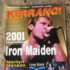 Riviste di musica: KERRANG Nº 71 . IRON MAIDEN . MARILYN MANSON . KISS . LIMP BIZKIT. Lote 207747103