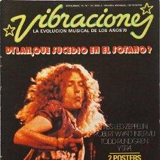 Magazines de musique: VIBRACIONES Nº 14. NOVIEMBRE 1975. BOB DYLAN, LED ZEPPELIN, ROBERT WYATT…. Lote 207904038