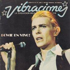 Magazines de musique: VIBRACIONES Nº 21. NOVIEMBRE 1975. DAVID BOWIE, MICK JAGGER, JETHRO TULL…. Lote 207904090