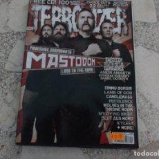 Revistas de música: REVISTA DE MUSICA ,TERRORIZER Nº 182, POSTER SLAYER Y MASTODON, FEAR CANDY, LABEL PROFILE, BARBARIAN. Lote 208218768