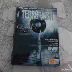 Revistas de música: REVISTA DE MUSICA ,TERRORIZER Nº 167, POSTER HATE ETERNAL Y ANAAL NATHRAKH, GREAKING FACES, BLAST FR. Lote 208219510