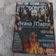 Revistas de música: REVISTA DE MUSICA ,TERRORIZER , TRUE CULT HEAVY METAL Nº 198, POSTER NO. Lote 208219745