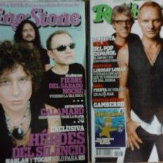Revistas de música: REVISTA ROLLING STONE Nº 93 Y 95 2007 - HÉROES DEL SILENCIO, CALAMARO, THE POLICE. Lote 208281445