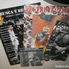 Revistas de música: LOTE REVISTAS PUNK DESTRUYE ZINE - BUSCA Y DESTRUYE - ACTION PUNK. Lote 208809630