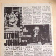 Revistas de música: ELTON JOHN EN MADRID. Lote 208938282