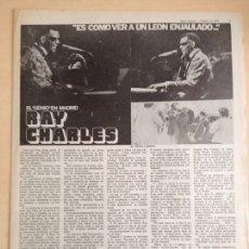 Revistas de música: RAY CHARLES - OSIBISA. Lote 208939251