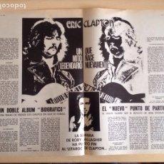 Revistas de música: ERIC CLAPTON - GEORGE HEARISON - RAVI SHANKAR - FAIRPORT CONVENTION. Lote 208939930