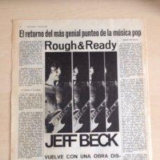 Revistas de música: JEFF BECK. Lote 208960612