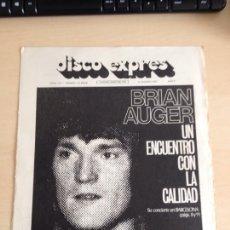 Revistas de música: BRIAN AUGER. Lote 208960966