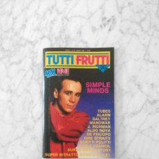 Magazines de musique: TUTTIFRUTTI - 1984 - SIMPLE MINDS, MANOWAR, DIRE STRAITS, DURAN DURAN, TULLIO DE PISCOPO, THE TUBES. Lote 209201568