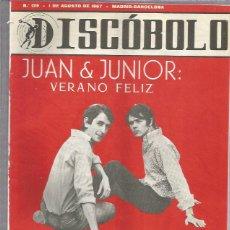 Revistas de música: DISCOBOLO 129 (PROCEDE DE ENCUADERNACION Y PARTE SUPERIOR ALGO GUILLOTINADO). Lote 209708890