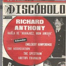Revistas de música: DISCOBOLO 135 (PROCEDE DE ENCUADERNACION Y PARTE SUPERIOR ALGO GUILLOTINADO). Lote 209709227