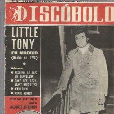 Revistas de música: DISCOBOLO 137 (PROCEDE DE ENCUADERNACION Y PARTE SUPERIOR ALGO GUILLOTINADO). Lote 209709492
