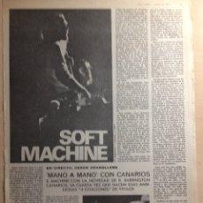Revistas de música: CANARIOS - SOFT MACHINE - JERRY GARCIA. Lote 209877001
