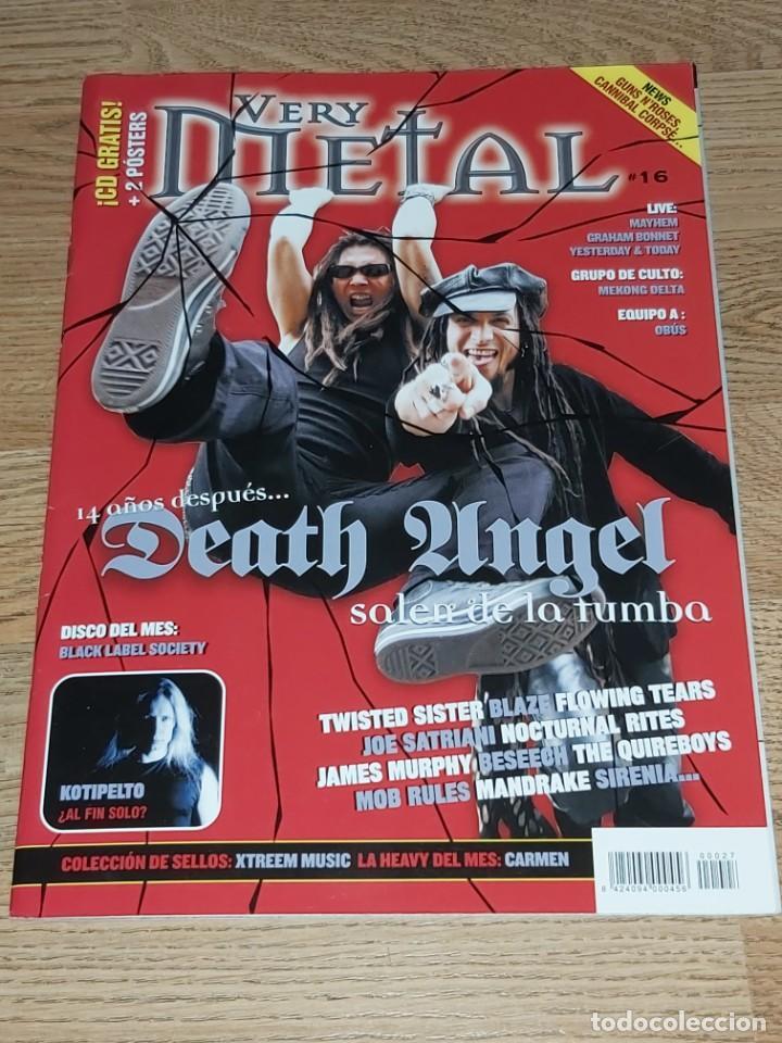 REVISTA VERY METAL Nº 16, 2004 (CON POSTER FLOOR JANSEN ) DEATH ANGEL (COMPRA MINIMA 15 EUROS) (Música - Revistas, Manuales y Cursos)