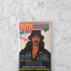 Revistas de música: TUTTIFRUTTI - 1984 - FRANK ZAPPA, KISS, PSYCHEDELIC FURS, VAN HALEN, SPANDAU BALLET, ROGER WATERS. Lote 210220491