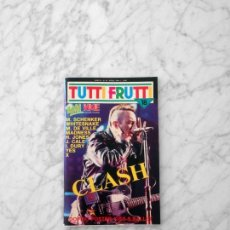 Revistas de música: TUTTIFRUTTI - 1984 - CLASH, WHITESNAKE, MINK DE VILLE, YES, TODD RUNDGREN, MICHAEL SCHENKER, MADNESS. Lote 210221515