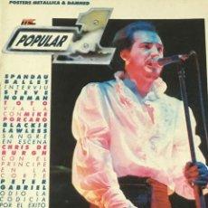 Revistas de música: POPULAR 1 - MARZO 1987. Lote 210222141