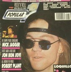 Revistas de música: POPULAR 1 - FEBRERO 1989. Lote 210222233