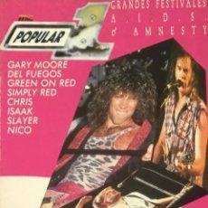 Revistas de música: POPULAR 1 - JUNIO 1987. Lote 210222545