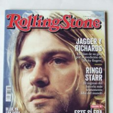 Revistas de música: BEATLES ROLLING STONE 187 KURT COBAIN ROLLING STONES RINGO STARR THE WHO PAUL WELLER SERRAT THE POLI. Lote 210273996