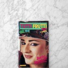 Revistas de música: TUTTIFRUTTI - 1984 - BOY GEORGE, MOTORHEAD, DIO, DEEP PURPLE, ROGER WATERS, OMD, THOR, WHAM. Lote 210366117