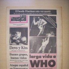 Revistas de música: EL GRAN MUSICAL Nº 189 NOVIEMBRE 1979 KISS MICHAEL JACKSON WHO SUPERTRAMP ROXY MUSIC BEATLES DEVO. Lote 210563522